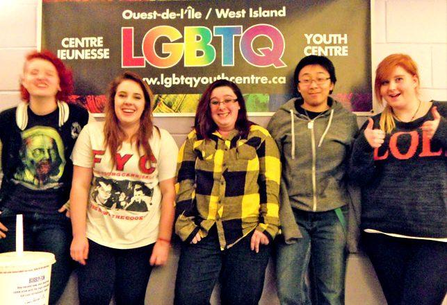 A Photo of some of our inspired LGBTQ youth